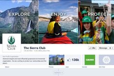 Sierra Club utilizes the new Facebook timeline.
