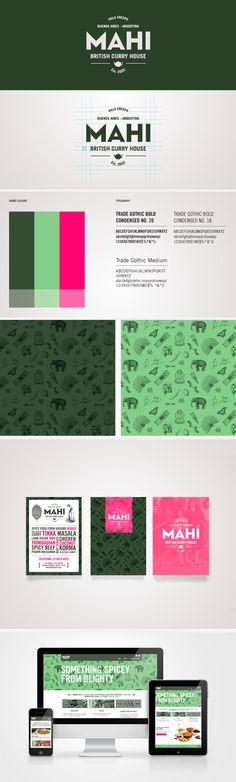 identity / MAHI curry house | #stationary #corporate #design #corporatedesign #identity #branding #marketing