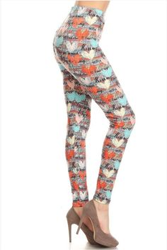 b0e43254ca17e 19 Best White Plum Print Leggings images | Print leggings, Printed ...
