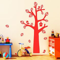 Baby Home Décor Honest Bird House Height Chart Scroll Tree Wall Stickers Vinyl Decal Kids Nursery Decor Soft And Light