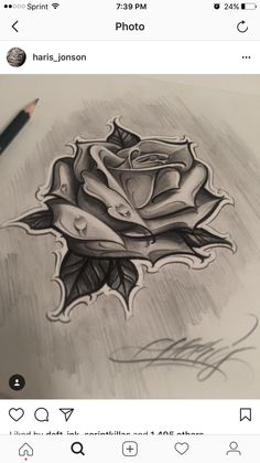 (notitle) - Frezy - Frezy no. Rose Drawing Tattoo, Tattoo Sketches, Tattoo Drawings, Art Sketches, Tattoo Writing Fonts, Tattoo Lettering Fonts, Cool Art Drawings, Pencil Art Drawings, Tattoo Feminin