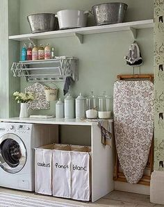 Have small laundry room? Got a boring laundry room? Need small laundry room design ideas? Don't worry, we're here to help you. Doing Laundry, Small Laundry, Laundry In Bathroom, Laundry Area, Laundry Baskets, Laundry Closet, Basement Laundry, Laundry Sorting, Laundry Bags