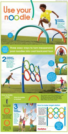 Use your noodle: This MCT OnePage offers three easy ways to turn inexpensive pool noodles into cool backyard toys. To print the page click here Note: if you are going to print this pdf, make sure …