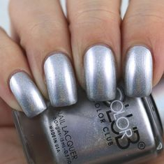 Color Club Beg, Borrow & Steel swatched by Olivia Jade Nails Jade Nails, Olivia Jade, Kind Of Blue, Color Club, Gold Polish, Nail Polish Collection, Nail Art Galleries, The Borrowers, Swatch