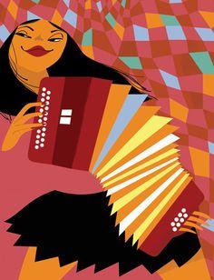 The New Yorker magazine. Portrait of Zydeco musician Rosie Ledet by Clayton Junior