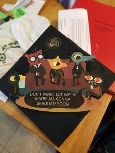 Awesome Night in the Woods grad cap