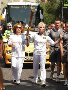 Patsy and Eddie take the torch for a stroll.  Love it. @Keri McMillan , lets be real. It COULD be our future...