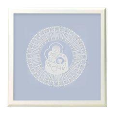 dodatki - plakaty, ilustracje, obrazy - inne-pastelowa Święta Rodzina (Kurpie Art Papercut)