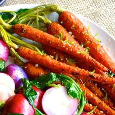 Curry-Lime Roasted Carrots from Healthy Julie www.healthyjulie.com