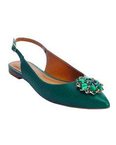 SAPATILHA EM COURO COM PEDRAS |Bella Bella Shoes