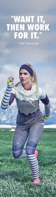 "Olympic snowboarder Silje Norendal's trains under one mantra - ""If I want it and work for it, I can accomplish anything."""