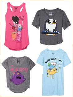 Adventure time shirts :D