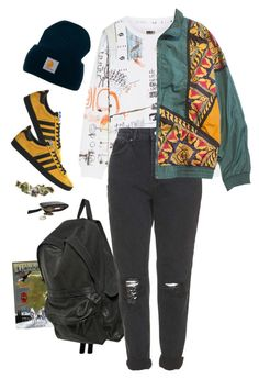 """""""keep cool"""" by paper-freckles ❤ liked on Polyvore featuring MM6 Maison Margiela, Carhartt, Ann Demeulemeester, adidas, Topshop and ...Lost"""