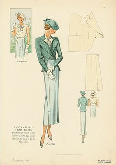 1930s Fashion Plate from NYPL by baronessvonvintage, via Flickr