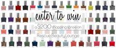 Win a $200 Rescue Beauty Lounge shopping spree!