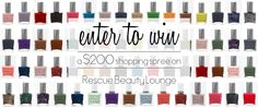 Win a $200 Rescue Beauty Lounge shopping spree!