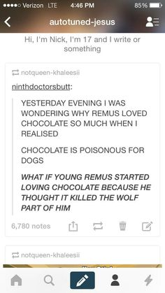 Um... Hello, but Remus only has chocolate all the time in 'The Prisoner of Askaban' because Dementors are guarding Hogwarts... Not because he has an obsession with chocolate.