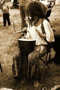 Hand drummer...