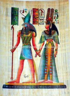 Pinturas egipcias de papiro, genuino de papel de papiro