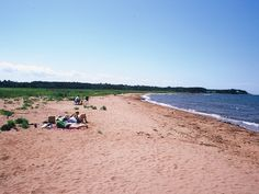 Waterside Beach Provincial Park | east of Caribou River (3 km /2 mi north of Route 6) in the Northumberland Shore region, is a combination of a long sandy beach, salt marsh and open farmland with picnic tables. This long, wide beach is seldom crowded, and the water is very warm.