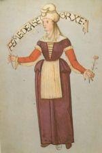 """Ascain. """"Habits de femmes de diverses countres"""" Bibliotheque Nationale de Paris. early 16th c. ~Basque"""
