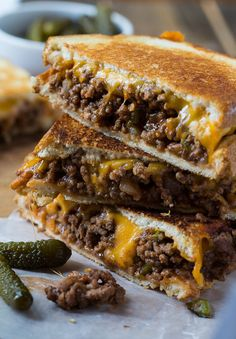 Sloppy Joe Grilled Cheese sandwiches will feed your soul