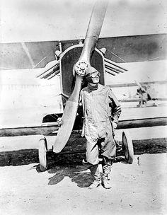 Pilot standing in front of U.S. Army airplane during World War I, circa 1918.  A scene from my latest novel, Blood Moon; sequel to Phantom Island.