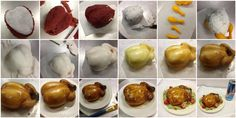 Back by popular demand : miniature turkey cake tutorial. Fondant Cake Tutorial, Cupcake Tutorial, 3d Cakes, Cupcake Cakes, Charcuterie, Turkey Cake, Fall Cakes, Clay Food, Cake Decorating Tutorials