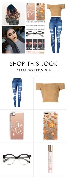 """""""i wish he was my boyfriend"""" by emma-morgan2 ❤ liked on Polyvore featuring WithChic, Alice + Olivia, Casetify, Burberry, Fall, orange, polyvoreeditorial and polyvorefashion"""
