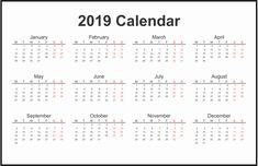 calendar 2019 pdf download india