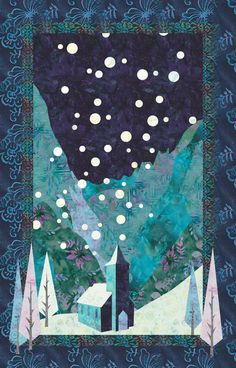 Sewing Quilts quilt image - x finished size. Requires 15 different fabrics. Tree Quilt Pattern, Applique Quilt Patterns, Quilting Projects, Quilting Designs, Art Quilting, Sewing Projects, Teal Quilt, Snowflake Quilt, History Of Quilting