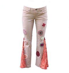 #DenimRecycledPants #BohoPants #GypsyPants #HippiePants