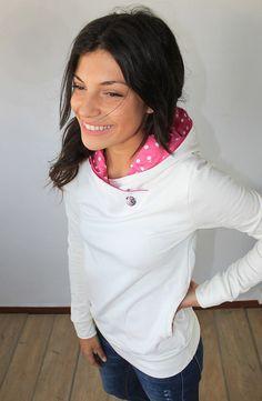 Hoodie Nice in creme pink von SHOKO Shop auf DaWanda.com