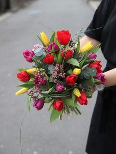 #tulips #flowers #bouquet Tulips Flowers, Magnolia, Centerpieces, Floral Wreath, Bouquet, Wreaths, Decor, Tulip, Garlands