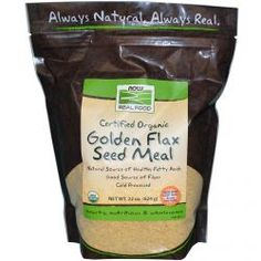 Now Foods, Real Food, Golden Flax Seed Meal, 22 Oz (624 G), Diet Suplements 蛇
