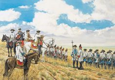 Field Marshal Daun, with his staff on Przerovsky Hill, Kolin 1757