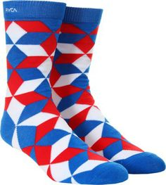 RVCA Barry Sock - red/white/blue