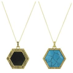 We LOVE our new House of Harlow Hexes Pendant Necklaces!!!  Reversable treasures!  Available in Black or Turquoise now @ www.marleyrose.com.au