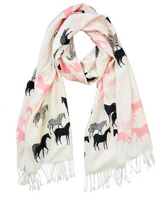 Equus Scarf in Pink & Cream....Are You Ready For Spring?   $49