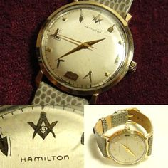 アンティークハミルトンフリーメイソン10金張手巻時計 悪魔 Watch hamilton ¥29800円 〆03月25日