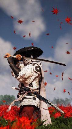 Arte Ninja, Ninja Art, Japanese Drawings, Japanese Art, Futuristic Samurai, Samurai Wallpaper, Character Art, Character Design, Game Art