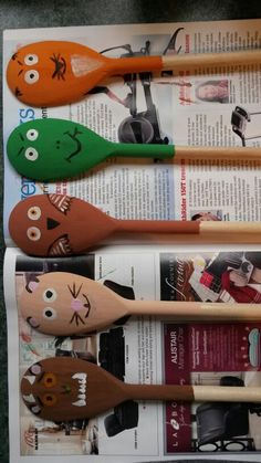 The Gruffalo wooden spoon puppets - will be using for retelling