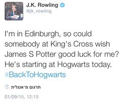 Happy first day at Hogwarts James Sirius Potter!