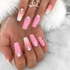Simple Rhinestones Accent On Coffin Nails ❤ 35+ Magnificent Coffin Nails Designs You Must Try ❤ See more ideas on our blog!! #naildesignsjournal #nails #nailart #naildesigns #nailshapes #coffinnails #balerinanails #coffinnailshapes