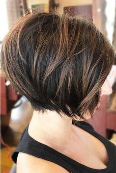 Get Yourself A Pixie Bob To Create A Truly Enviable Look Short Bob Haircuts Graduated Bob Hairstyles, Short Bob Hairstyles, Graduated Haircut, Stylish Hairstyles, Simple Hairstyles, Hairstyles 2018, Medium Hairstyles, Braided Hairstyles, Wedding Hairstyles
