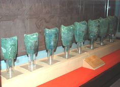 A second set of bronze bells buried in the tomb of the Nanyue King, Guangzhou, China, Western Han Dynasty.