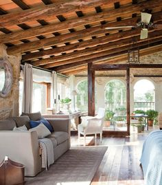 Love the ceiling in this Master suite.. Makes it look and feel very warm..
