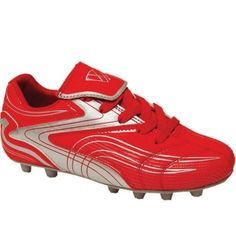 SALE - Kids Vizari Striker Soccer Cleats Red Leather - Was $23.99 - SAVE $4.00. BUY Now - ONLY $19.99