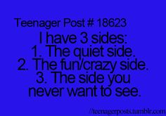 It says teen post but I think this applies to everyone... At least I hope it does... I'm not the only one, right?