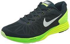 Nike Men's Lunarglide 6 Seaweed/White/Volt/Elctrc Grn Running Shoe 8 Men US